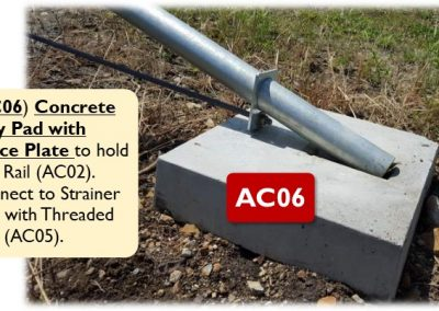 AC06 – Concrete Stay Pad with Brace Plate