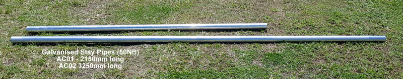 Galvanised Stay Pipes (50 NB)AC01 - 2150mm longAC02 - 3250mm long