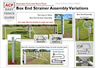 Variations of Box End Assembly